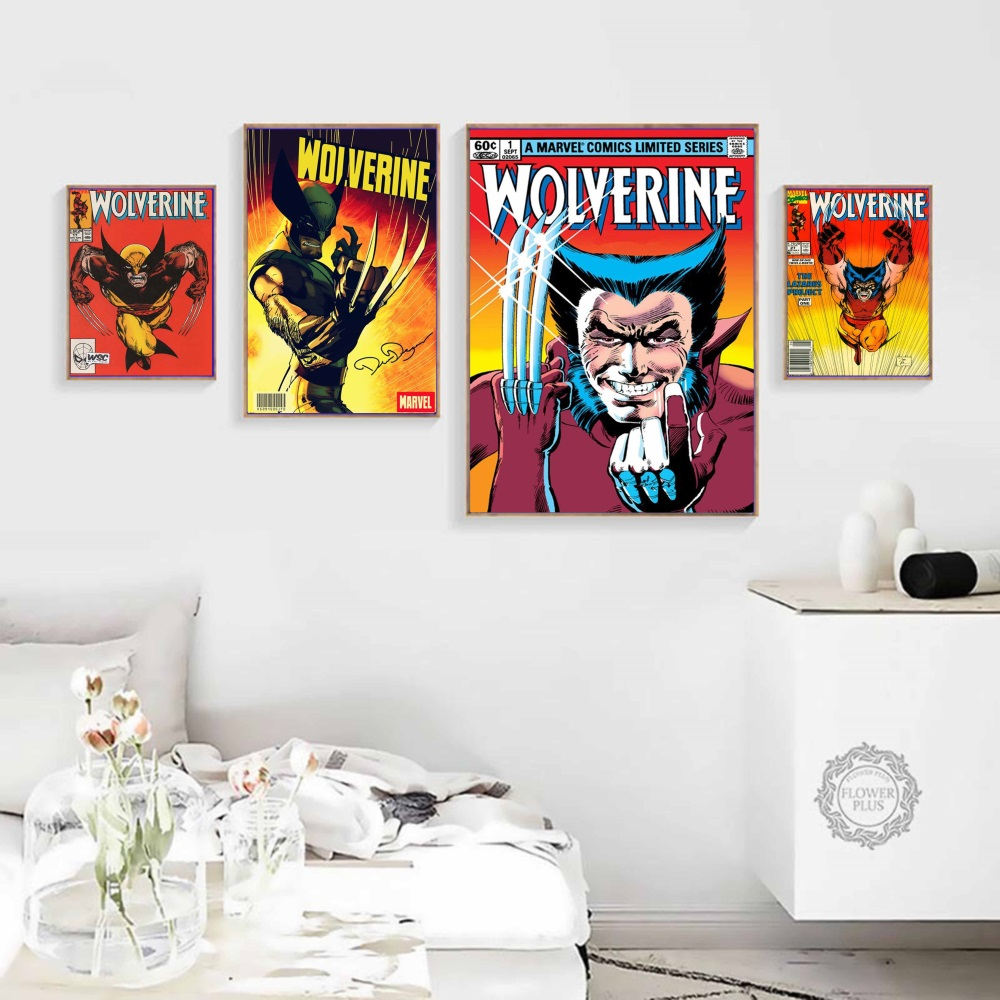 Wolverine Vintage Comic Artwork Posters and Prints Wall art Decorative Picture Canvas Painting For Living Room Home Decor image