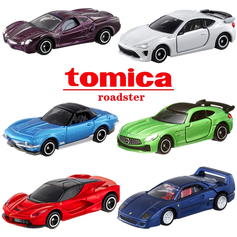 TAKARA TOMY Diecast Car Tomica Roadster Series Premium Laferrari Dino Testarossa And Gtb Model Kit Diecast Car Toy Funny Bauble