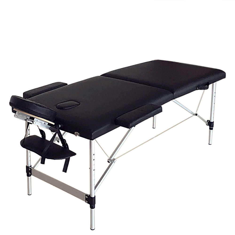 2 Sections Foldable Beauty Salon Therapy Bed Soft Comfortable Facial Body Massage Bed Home Beauty Table Furniture