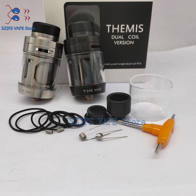 THEMIS RTA 5ML 2ML Tank Atomizer Dual Coil Leak Proof Diameter 24MM RTA For Mech Mod Electronic Cigarette Vapporizer Rda Rta Mod