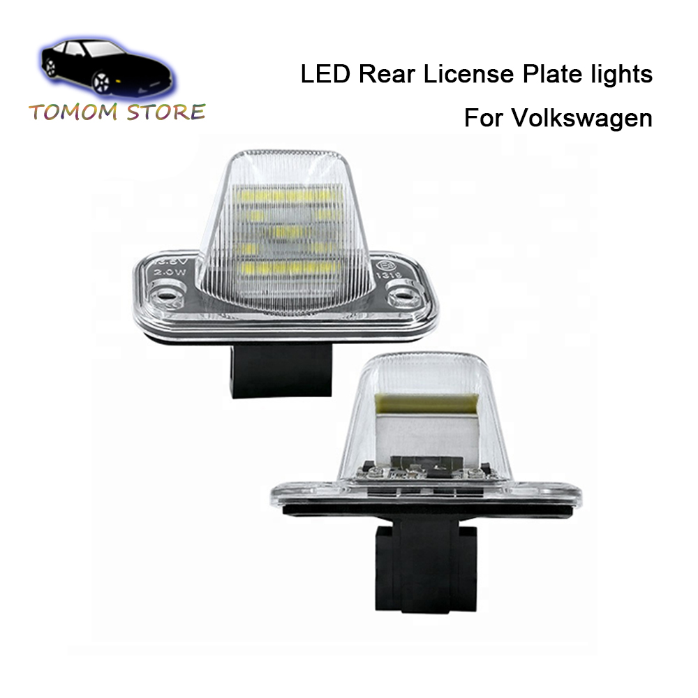 LED Canbus Car License plate lamp lights for VW T4 Transporter Caravelle MK4 Multivan Jetta Passat B5 B6 Combi Eurova