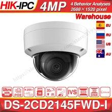 Hikvision DS 2CD2145FWD I POE מצלמה וידאו אבטחת 4MP IR רשת כיפת מצלמה 30M IR IP67 IK10 H.265 + SD כרטיס חריץ