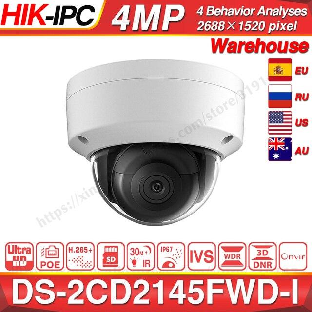 Hikvision DS 2CD2145FWD I POE kamera Video güvenlik 4MP IR ağ Dome kamera 30M IR IP67 IK10 H.265 + SD kart yuvası