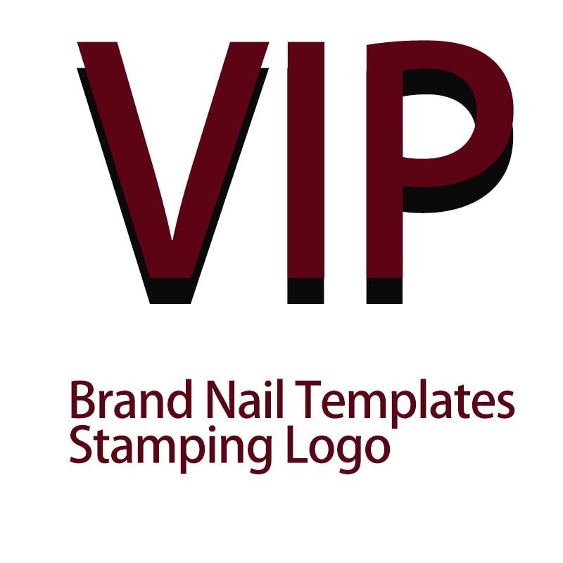 Nail Stamping Plates Logo Designer 12*6cm Nail Stamping Platee Biutee Brand Design Frence Design