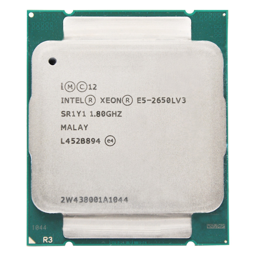 INTEL XEON E5-2650LV3  E5 2650L V3 E5 2650LV3 E5-2650L V3 1.8GHz 12-Core LGA2011-3 For X99 motherboard 1