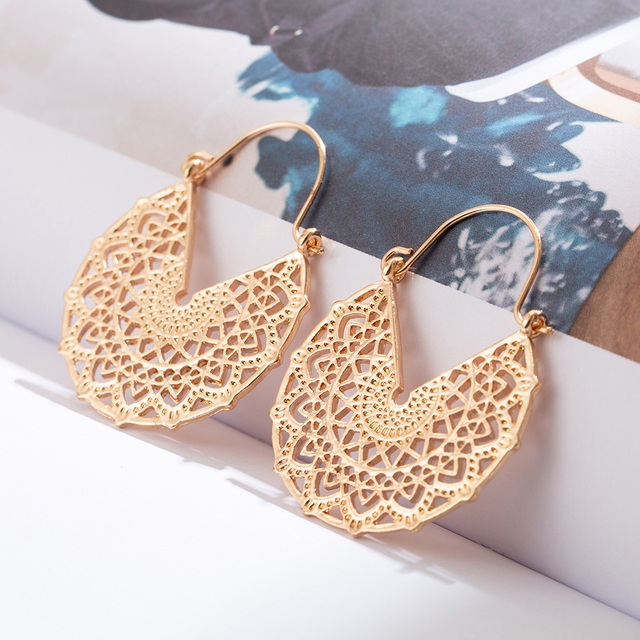Vintage Boho Ethnic Dangle Bow Round Drop Earrings for Women Female Fashion 2019 Jewelry Hanging Wedding.jpg 640x640 - Vintage Boho Ethnic Dangle Bow Round Drop Earrings for Women Female Fashion 2019 Jewelry Hanging Wedding Earrings for Brides