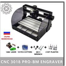 CNC 3018 PRO BM เลเซอร์แกะสลักไม้เครื่อง CNC Router GRBL ER11 DIY เครื่องแกะสลักสำหรับไม้ PCB PVC MINI CNC3018 แกะสลัก