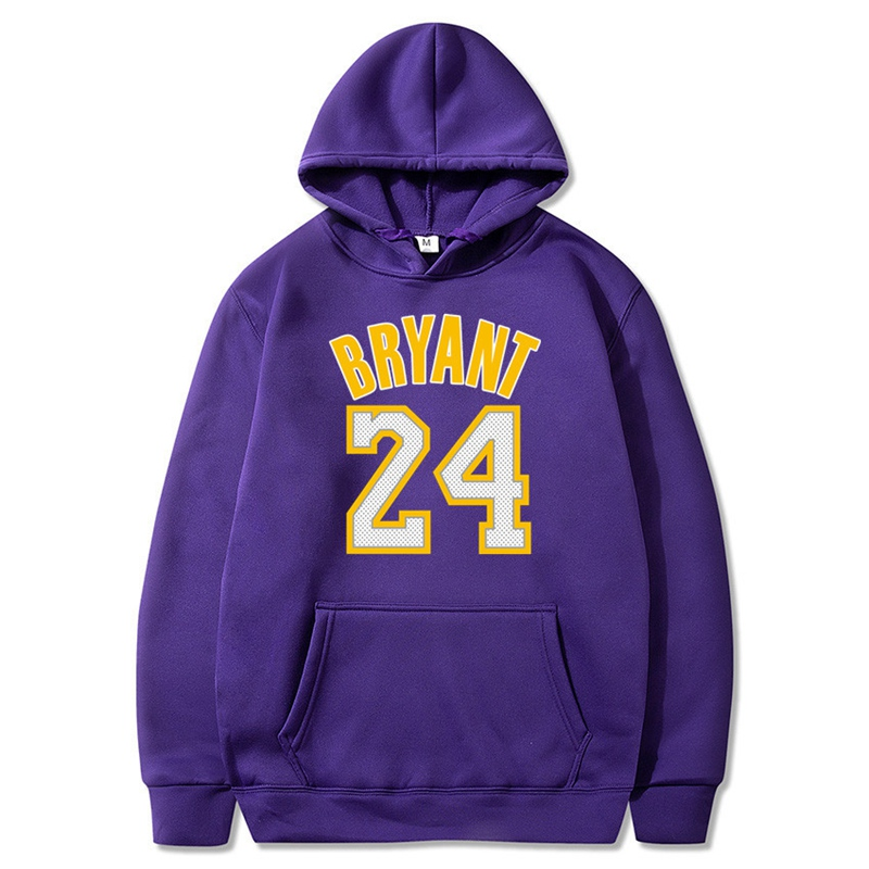 Autumn Sweatshirts Fashion Men Women Kobe Bryant 24 Souvenir Hoodies Warm Pullovers Hip Hop Hoody Teenager Tracksuit
