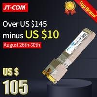 10G RJ45 Copper SFP Transceiver Module 10GBase Tx Ethernet Gpon Olt Fiber Optic FTTH Compatible with Cisco/Mikrotik Switch 30m