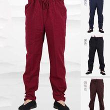 Wushu-Trousers Gongfu Martial-Arts Kung-Fu Taiji-Pants Tai-Chi Cotton Bloomers Old Coarse