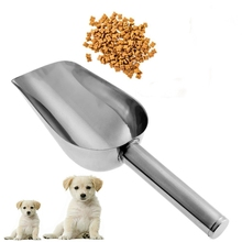 Pet Feeding Shovel Cat Food Scoop Large Capacity Thickening Dog Spoon Stainless Steel Feeder