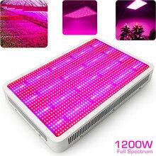 1200W LED Coltiva La Luce a Spettro Completo Impianto di Illuminazione Fitolampy per le Piante Dappartamento Fiori a Effetto Serra Crescere Tenda Vegs Piantina Crescita