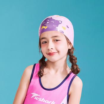 2021 nowe czepek kąpielowy dla dzieci silikonowe kreskówki dla dzieci czepek dla dziewczynek chłopcy wodoodporne śliczne wygodne gorące sprężyny pływanie dostaw tanie i dobre opinie hiasnece CN (pochodzenie) Cartoon pływanie cap silicone KT001 Sports trend swimming and wading Children