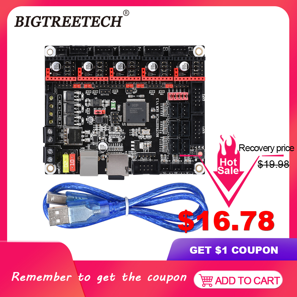 BIGTREETECH SKR V1.3 ARM 32 Bit 3D Printer Controller Board Smoothieboard Open Source Mainboard Like MKS GEN L