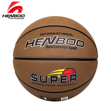 HENBOO Good Quality Basketball Official Size 7 Standard Microfiber Leather+Butyl Liner Outdoor Indoor Sport Inflatable Ball