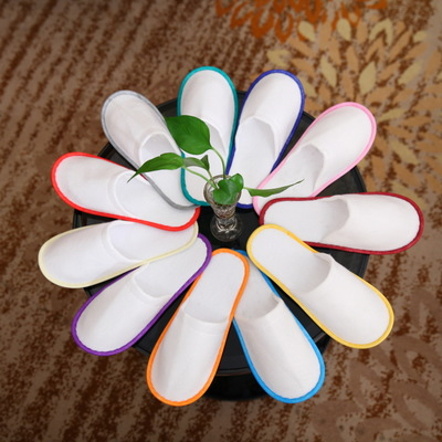 100pairs Wholesale Hotel Travel Spa Disposable Slippers Home Guest Slippers Mixed Colors Convenient Slippers Anti-slip Slippers