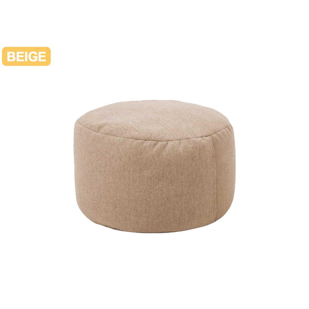 Pequeños sofás de puff redondos cubierta impermeable cama de juego silla de asiento bolsa de frijol de Color sólido Silla de algodón y lino para el sofá silla Cove