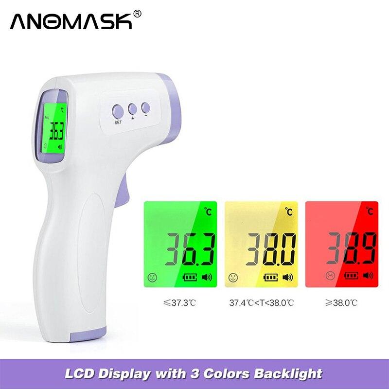 Бесконтактный инфракрасный термометр для детей и взрослых, инфракрасный измеритель температуры, цифровой термометр с ЖК-дисплеем