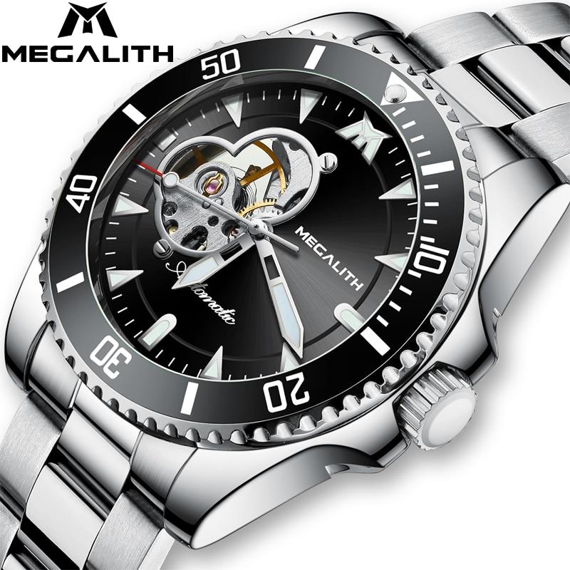 MEGALITH 2020 Automatic Men's Watches Top Brand Luxury Men Watch Mechanical Wristwatch Men Waterproof Clock Reloj Hombre 8209