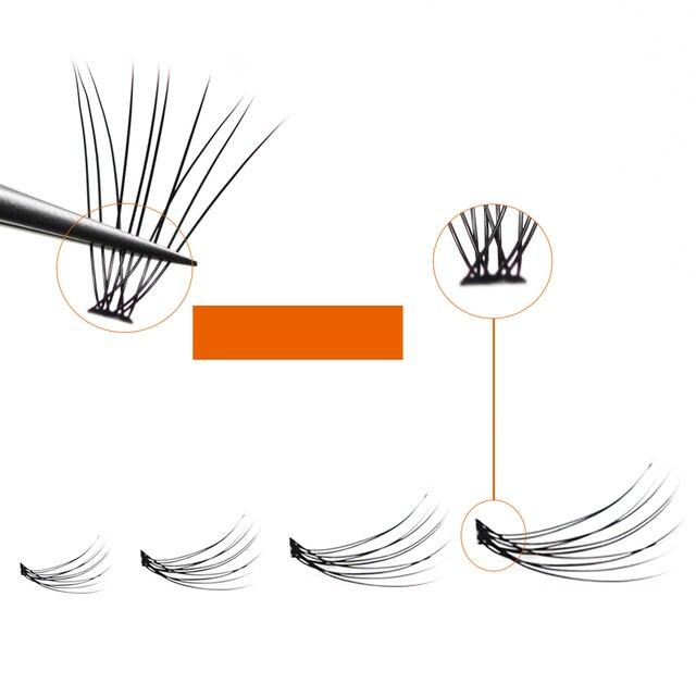 Grafting World Eyelash individual Eyelash  60 pcs 6mm to 15mm Deep Black Russia Volume cilia 5