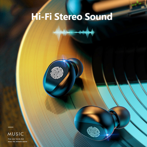 Image 5 - Auricolari Bluetooth 5.0 9D Stereo Music Sport auricolari Wireless con microfono cuffie 2000 mAh Power Bank per iPhone Samsung