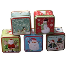 Embossing Christmas Tinplate Empty Tins Candy Cookie Gift Storage Container Holiday Decorative Box Decor