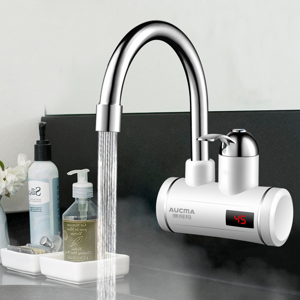3000W Instant Electric Faucet Heater Tap Digital Display Temperature Instantaneous Water Heater For Kitchen And Bathroom 220V