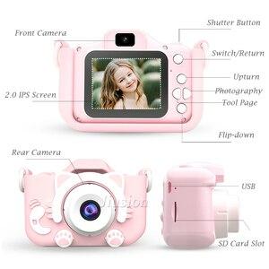 Image 5 - ילדים מיני דיגיטלי מצלמות 1080P ילדי וידאו מצלמה מתנות צעצועי ילד תינוק 2.0 אינץ HD קינדר תמונה צילום מצלמת וידאו