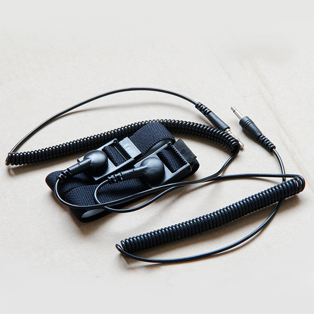 2PCS Black Wrist Band Accessories Universal Adjustable Strap Durable ABS Anti Static Replacement Spa Foot Detox Machine Belt