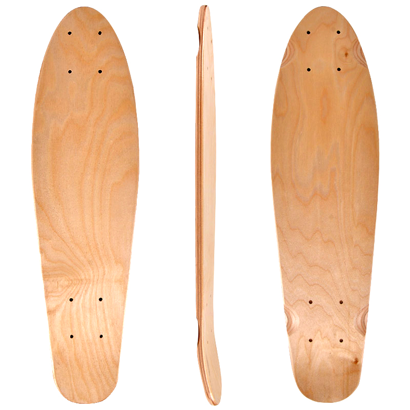 22inch Blank Skateboard Deck Natural 55.5x15cm Maple Banana Sliding Cruising Skating Single Rocker Board DIY Decks