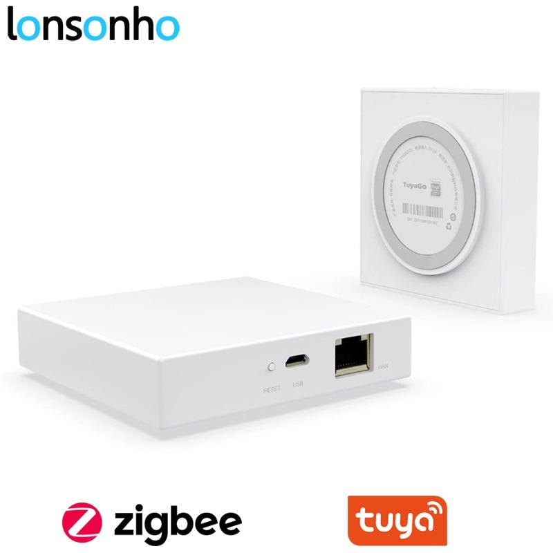 Lonsonho Tuya Zigbee 3.0 Hub Wifi Smart Home Bridge Wireless Remote Controller