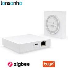Lonsonho 유선 Tuya Zigbee 허브 WiFi 스마트 홈 브리지 원격 컨트롤러 호환 Tuya Zigbee 장치