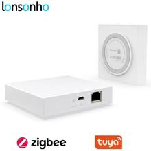 Lonsonho kablolu Tuya Zigbee Hub WiFi akıllı ev köprü uzaktan kumanda uyumlu Tuya Zigbee cihazları