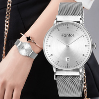 Fantor 2019 Fashion Elegant Ladies Watches Luxury Brand Quartz Magnetic Mesh Waterproof Wristwatch Women Bracelet Dress Watch