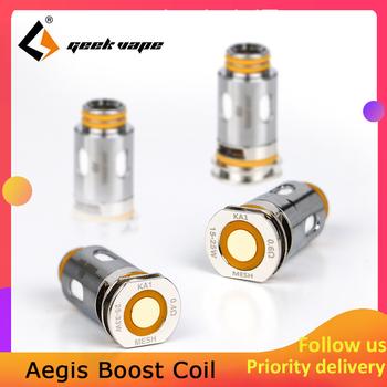 5 sztuk paczka geekvape Aegis Boost 0 4ohm 0 6ohm cewka zastępcza głowy obsługuje MTL DTL parownik Vape rdzenie dla Aegis boost kit tanie i dobre opinie Coil GeekVape Aegis Boost Replacement Coils Metal Geekvape Aegis boost kit 0 4ohm KA1 mesh coil(25-33W) 0 6ohm KA1 mesh coil(15-25W)