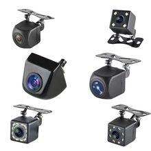 Carro de volta câmera reversa 170 graus led hd fisheyes 1080p opcional câmera visão traseira visão noturna estacionamento assistência câmera