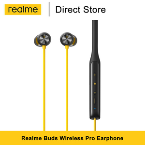 Realme Buds Wireless Pro Bluetooth 5.0 Earphone Neckband Headset Active Noice Cancellation Bass Boost Driver 22-hour playback