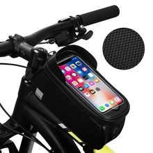 цена на MTB Road Bicycle Bike Bag Rainproof Touch Screen Handlebar Bag Cycling Front Tube Frame Bag Phone Case Pouch Bycicle Accessories