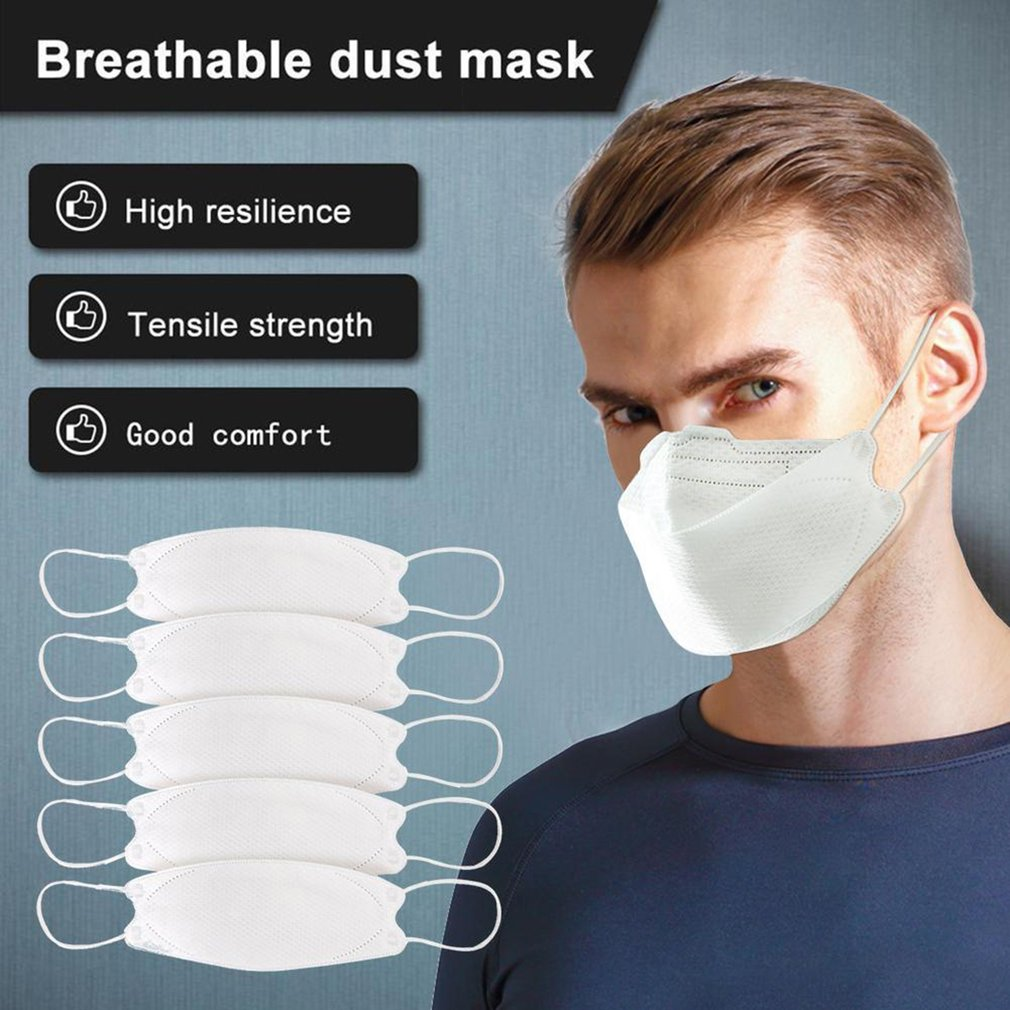 1/5/10/20/60 Pcs  Face Mask 3-Layer Protective Face Mask Mouth Face Mask Protection Against Droplet Dust Practica
