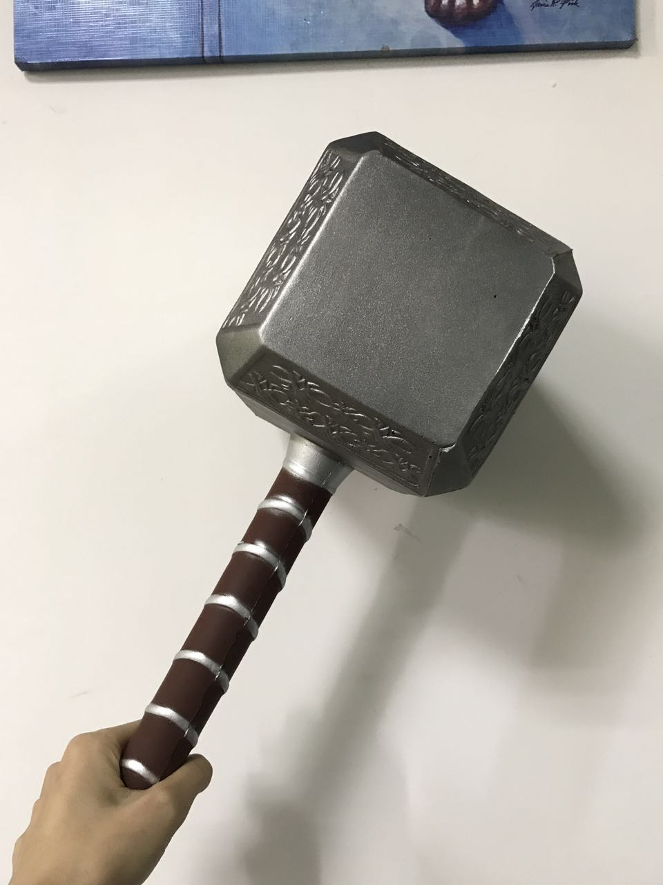1:1 Scale Thor Hammer Avengers Thor's Hammer Toys Thor Custome Thor Cosplay Props Hammer Stage Property PU&Foam Kids Gift 45CM