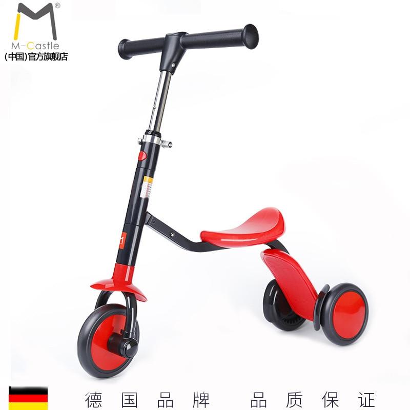 Trottinette enfant équilibreuse Tricycle 3 en 1 trottinette bébé trottinette multifonction trotteur enfant