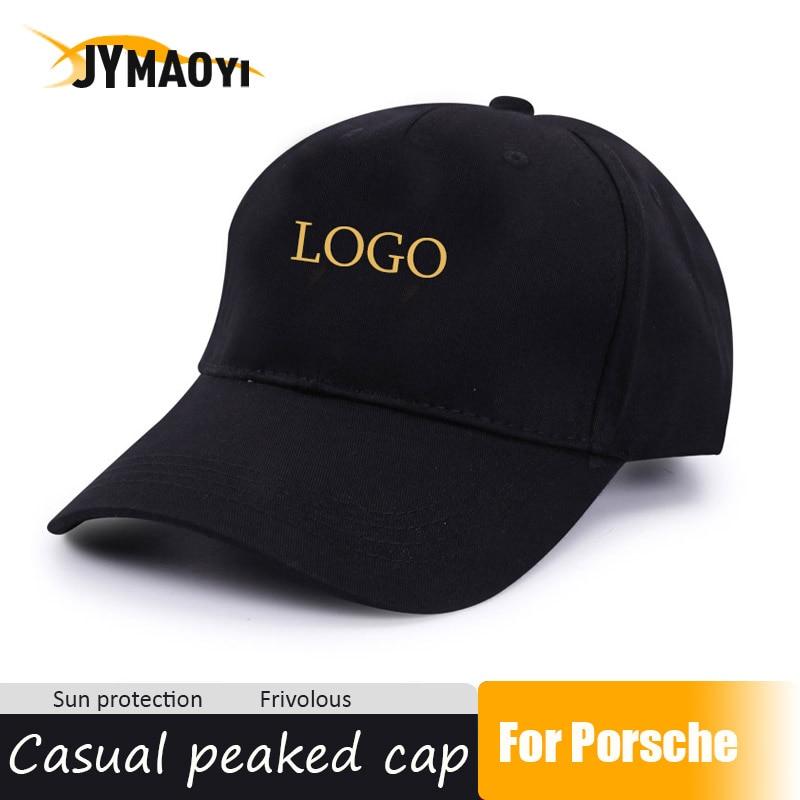JYMAOYI 2020 New Hat Breathable Cap Hat With Car Logo For Porsche Fashion Adjustable Cotton Cap Sun Summer Peaked Cap