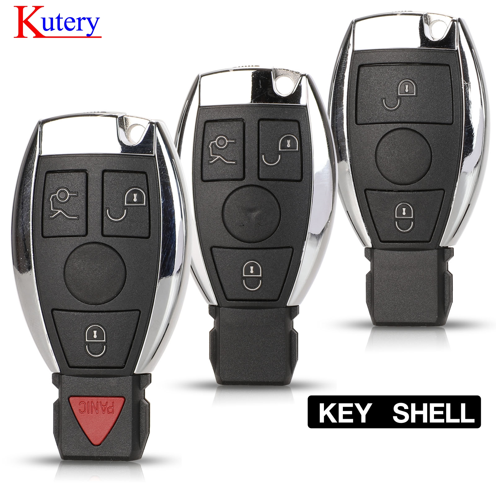 kutery Remote Car Key Shell Case 2000+ NEC BGA For <font><b>Mercedes</b></font> For <font><b>Benz</b></font> A B C E Class W203 204 205 210 <font><b>211</b></font> 212 221 2/3/4 Button image