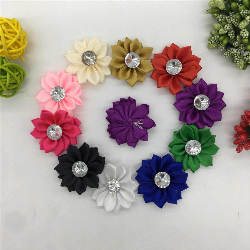 Nastro In Poliestere di colore multiplo Del Rhinestone artificiale 3D fiori per natale decorazioni per la casa cucito FAI DA TE Accessori