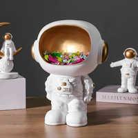Креативная скульптура космонавта из скандинавской смолы, статуэтка для хранения ключей, ремесло, стол, современное оформление помещения, а...