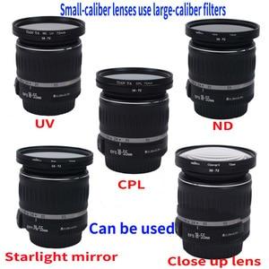 Image 2 - Gran oferta de 49mm 52mm 49 55mm 49 58mm 49 62mm 49 67mm 49 72mm 49 77mm 49 82mm filtro de anillo reductor conjunto de todos los adaptadores de cámara