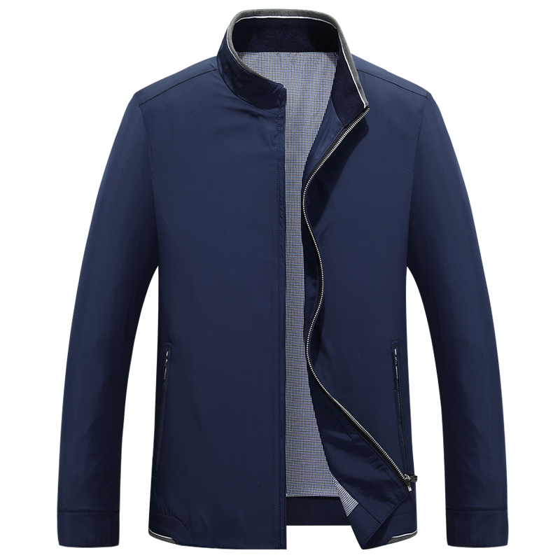 men 39 s short lapel collar solid color casual business jacket coat male slim bomber pilot jackets windbreaker tooling clothing in Jackets from Men 39 s Clothing