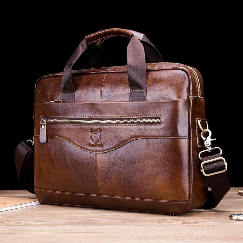 Genuine Leather Men Briefcases Business Shoulder Messenger Bags Men Bag High Quality Male Handbags Bolsa Masculina WBS788
