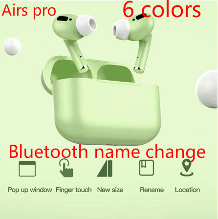Bluetooth Earphone With Microphone I100000 Tws Earbuds Macaron Air Pro 3 TWS In Ear Wireless Headphones For IPhone 11 Pro Max X