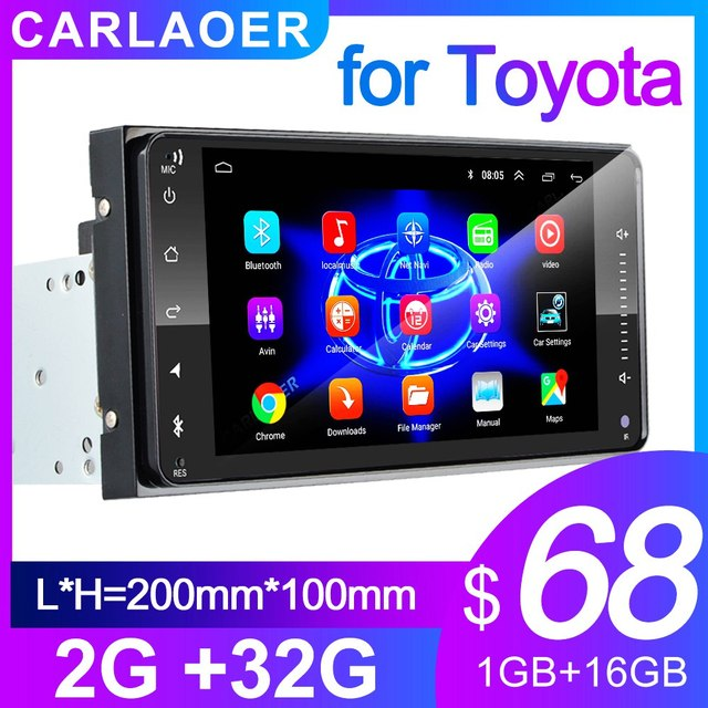 2 din android 8.1 Universal Car Multimedia Player Car Radio Player Stereo for Toyota VIOS CROWN CAMRY HIACE PREVIA COROLLA RAV4